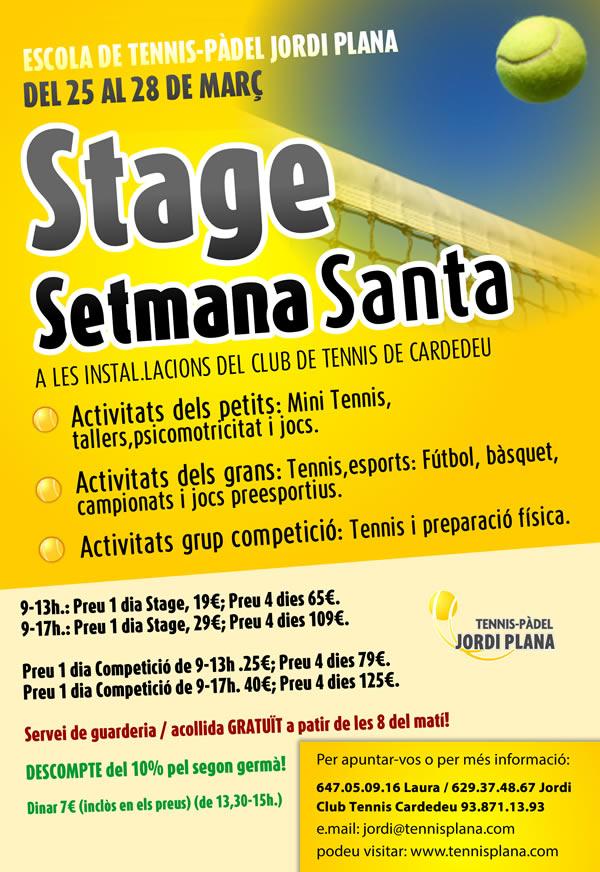 Stage de Setmana Santa 2013, l´Stage de Competició